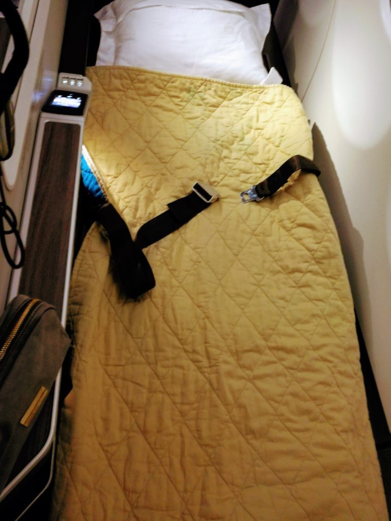 Oman Air Review - Bed Mode Seat